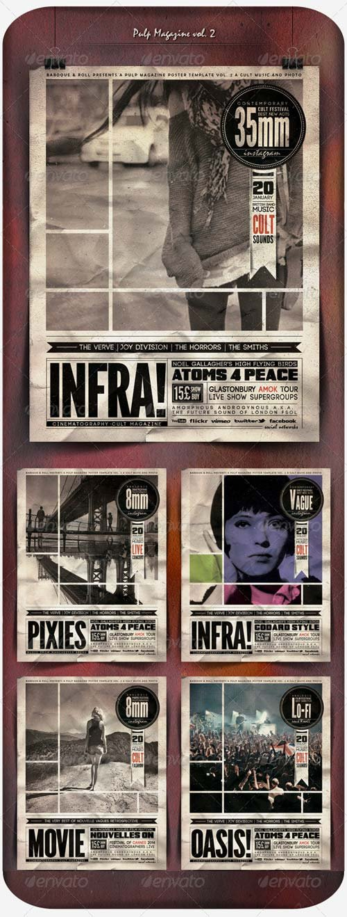 GraphicRiver Pulp Magazine Vol. 2