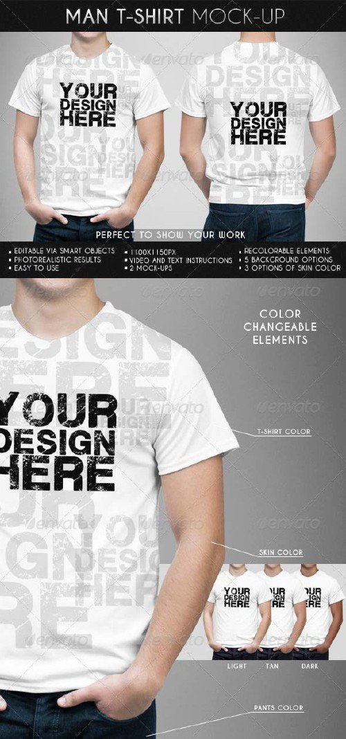GraphicRiver Man T-Shirt Mock-Up