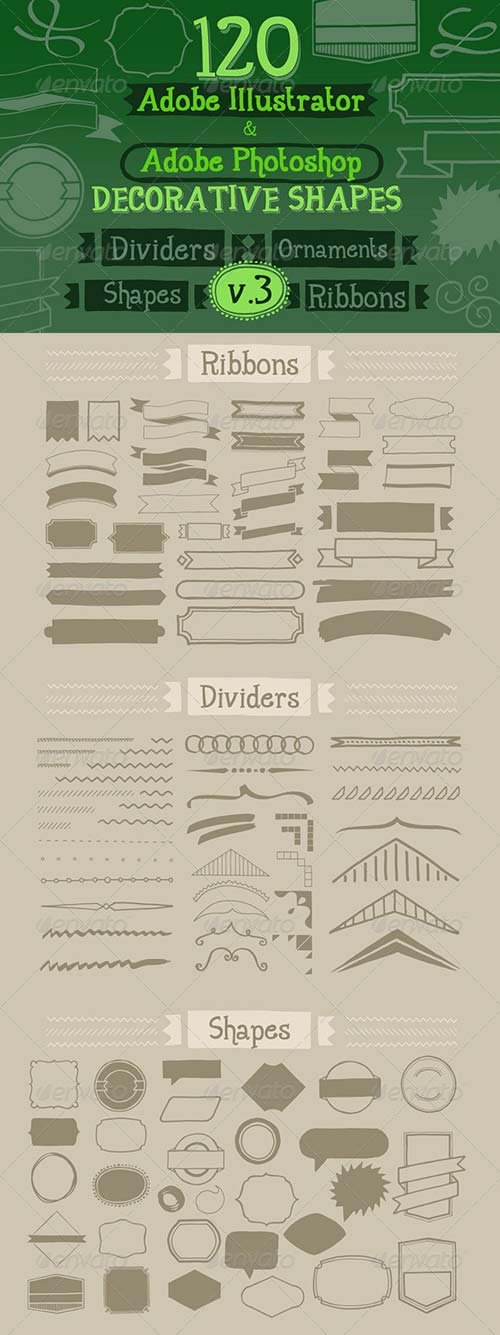 GraphicRiver 120 Handwritten Decorative Shapes 03