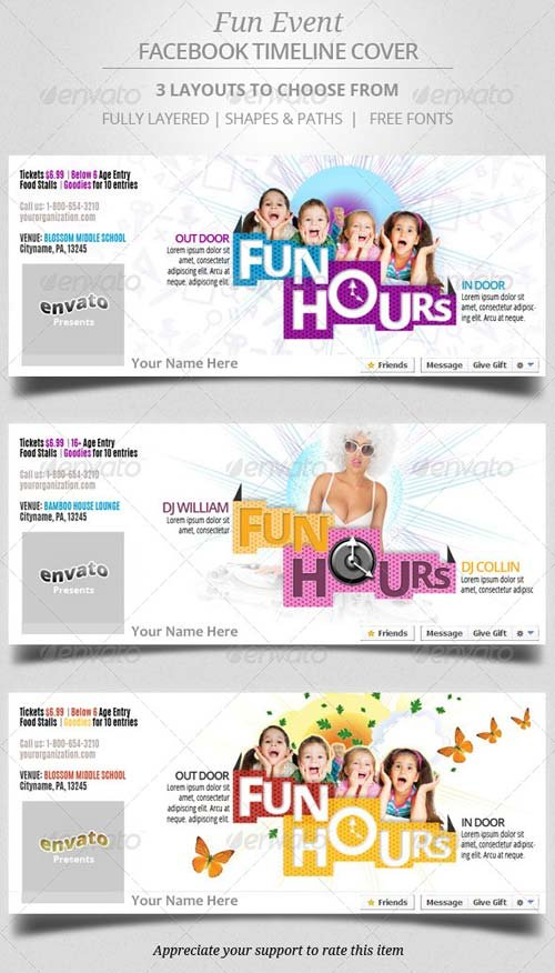 GraphicRiver Fun Event Facebook Timeline Cover