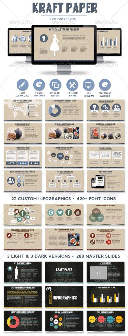 GraphicRiver Kraft Paper Powerpoint Presentation Template