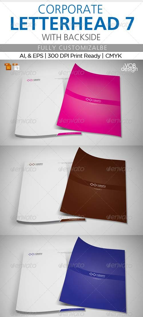 GraphicRiver Corporate Letterhead 7 with Back