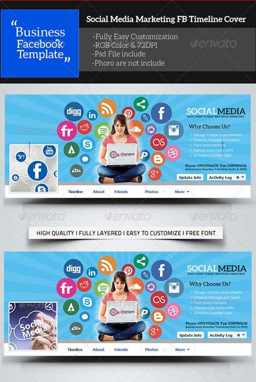 GraphicRiver Social Media Marketing Facebook Timeline Cover