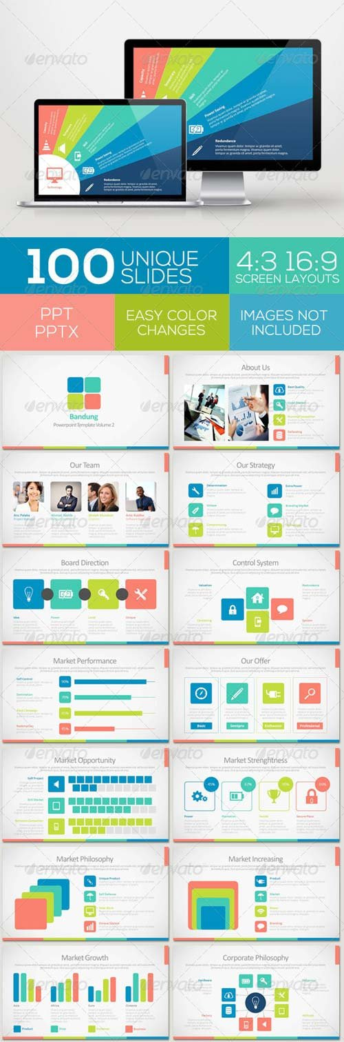 GraphicRiver Bandung Powerpoint Template Volume 2
