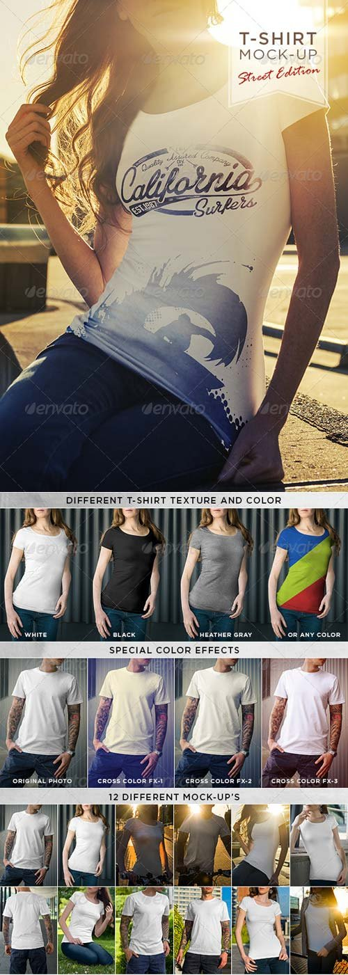GraphicRiver T-Shirt Mock-Up / Street Edition