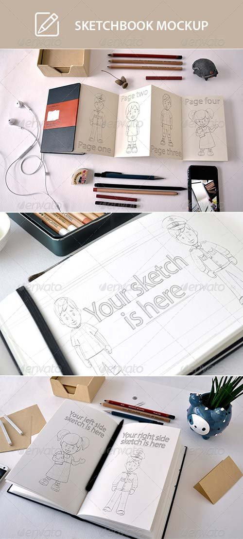 GraphicRiver Scetchbook Mock-Up