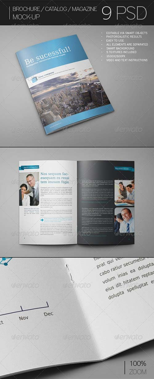 GraphicRiver Brochure / Catalog / Magazine Mock-Up