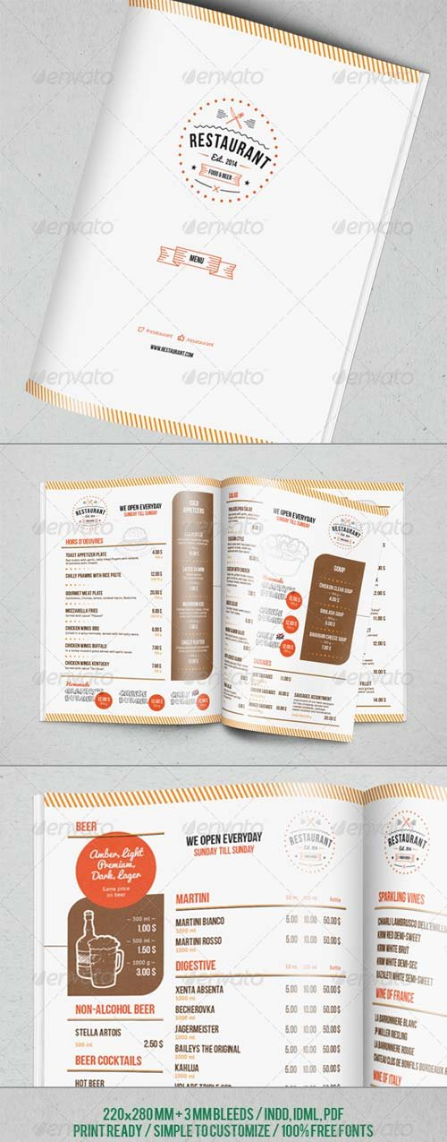 GraphicRiver Restaurant Menu Template 7054667