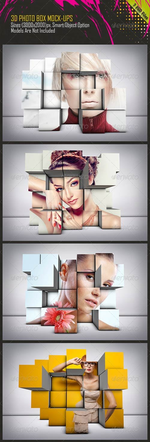 GraphicRiver 3D Photo Box Mockups