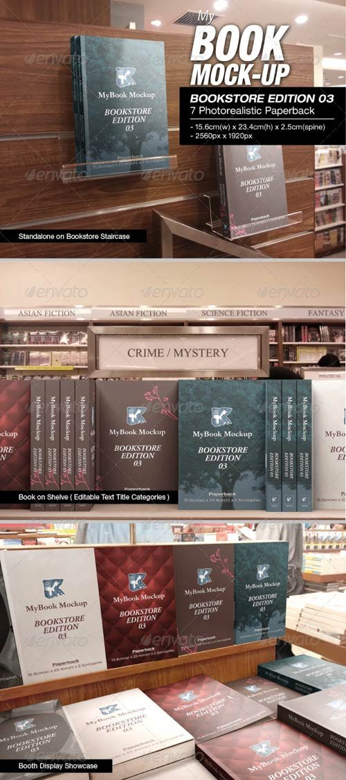 GraphicRiver MyBook Mock-up - Bookstore Edition 03