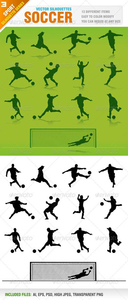 GraphicRiver Soccer Silhouettes