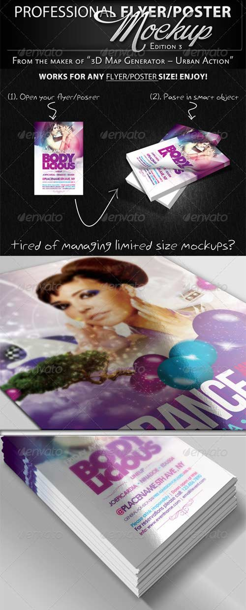 GraphicRiver Professional Flyer & Poster Mockup Bundle 3