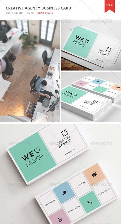 GraphicRiver Creative Agency Business Card - Vol. 21