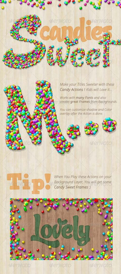 GraphicRiver Candy Text Creator - Photoshop Actions
