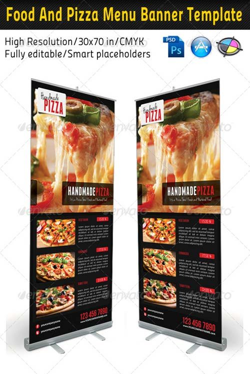 GraphicRiver Food And Pizza Menu Banner Template 02
