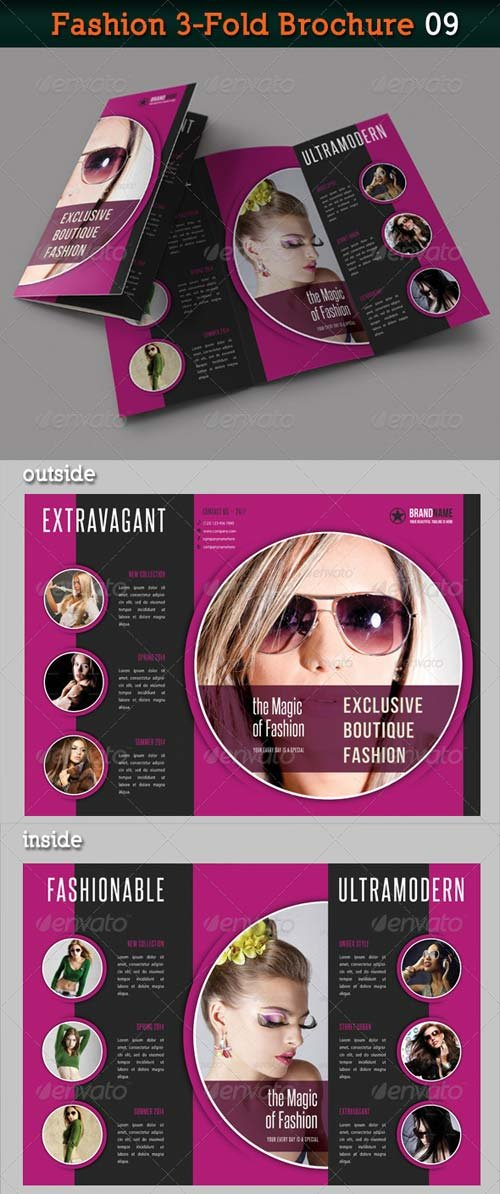 GraphicRiver Fashion 3-Fold Brochure 09