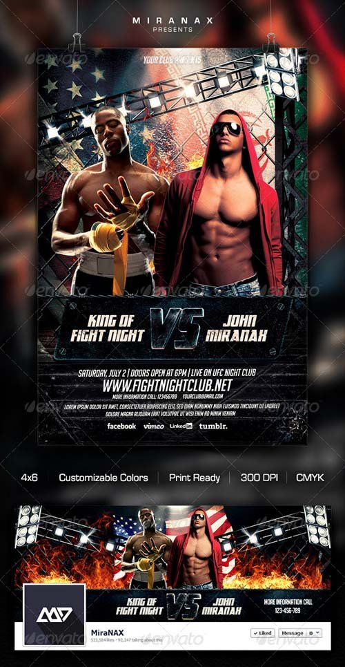 Flyer Templates GraphicRiver MMAUFC Showdown Flyer Template – Ufc Flyer Template