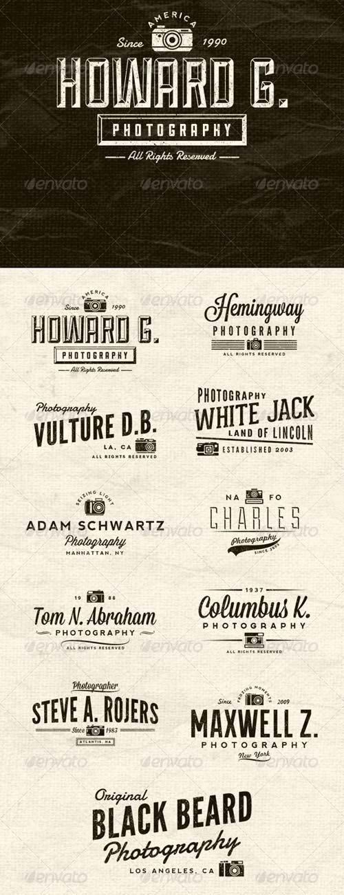 GraphicRiver Photographer Vintage Insignias Volume 1