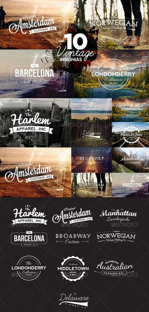 GraphicRiver 10 Vintage Insignias
