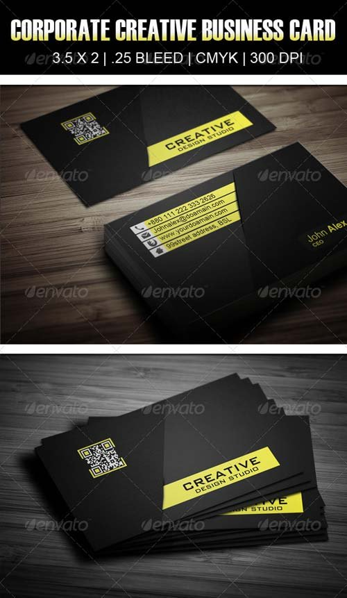 GraphicRiver Corporate Creative Business Card Design 5
