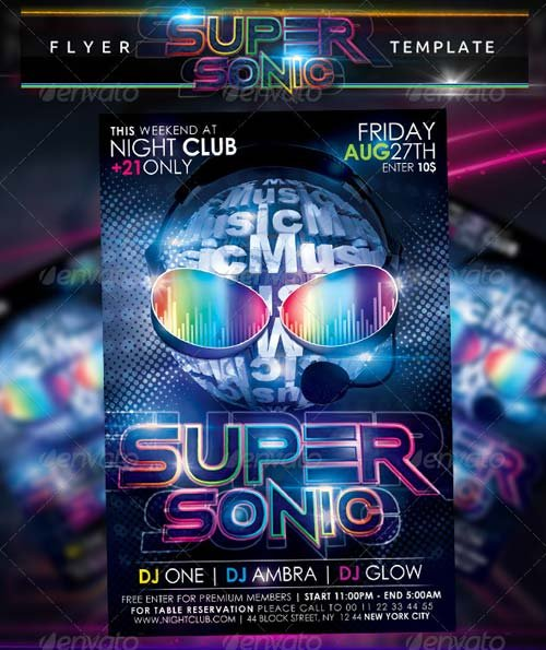 GraphicRiver Super Sonic Flyer Template