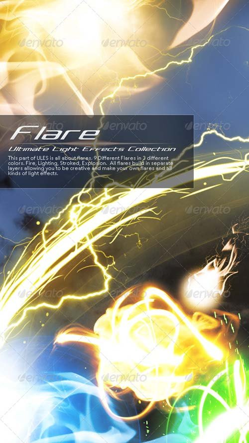 GraphicRiver Ultimate Light Effects Collection (Flare)