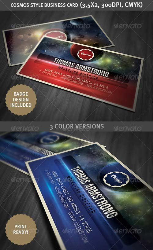 GraphicRiver Cosmos Style Business Card Template