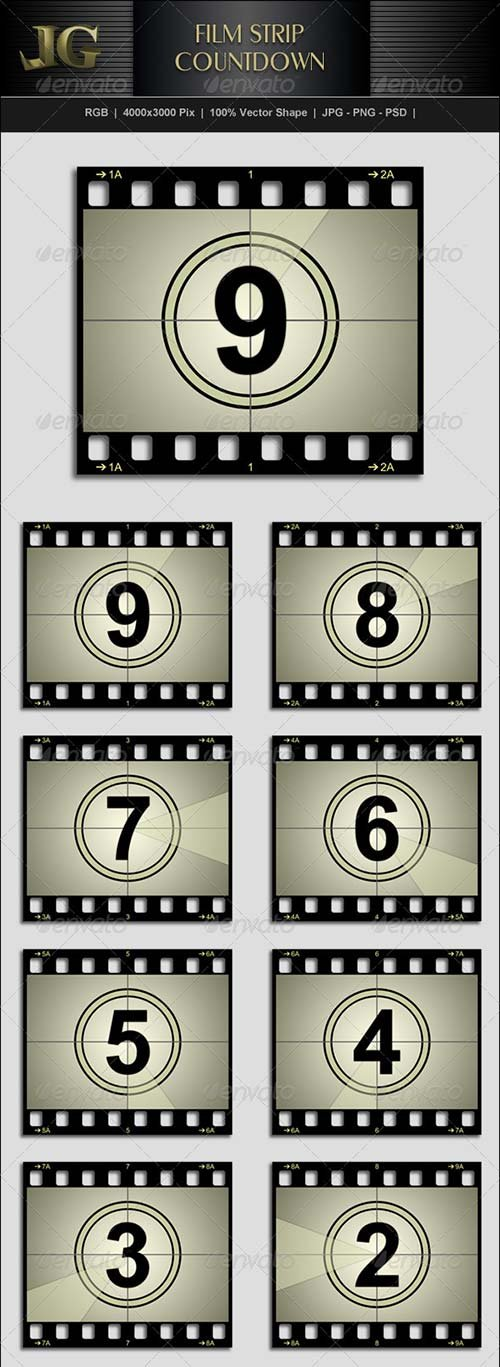 GraphicRiver Movie Strip Countdown