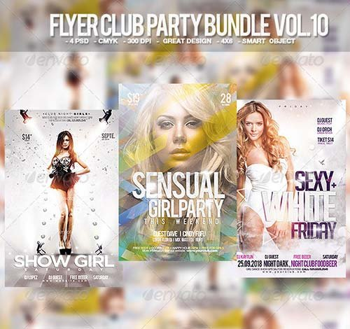 GraphicRiver Flyer Club Party Bundle Vol. 10