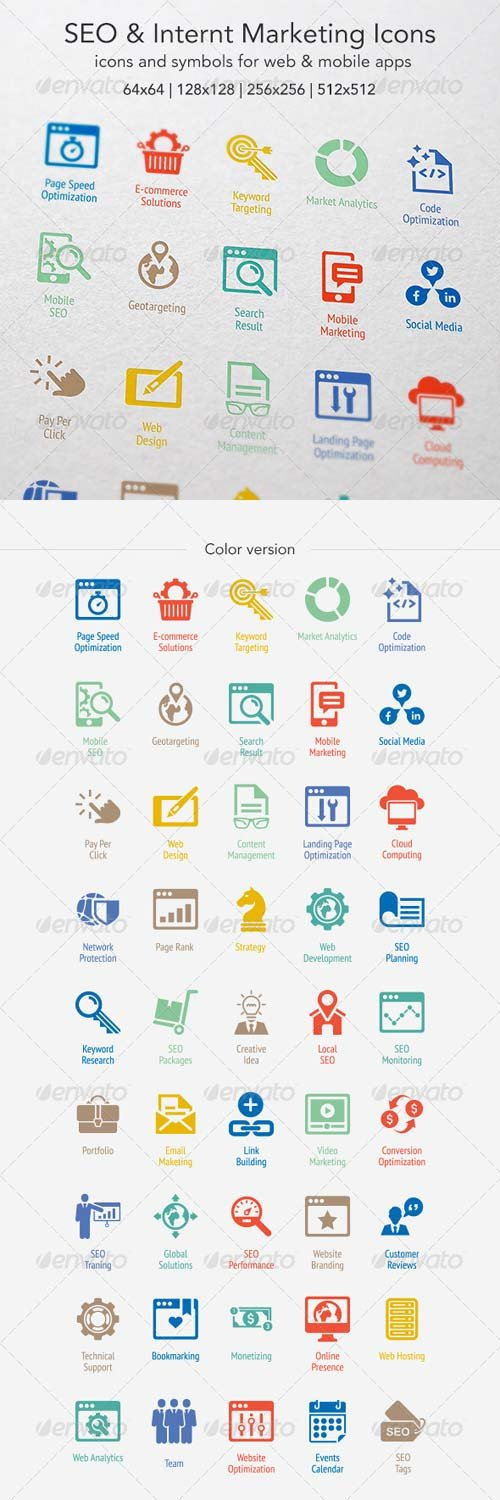 GraphicRiver SEO & Internet Marketing Icons 6959588