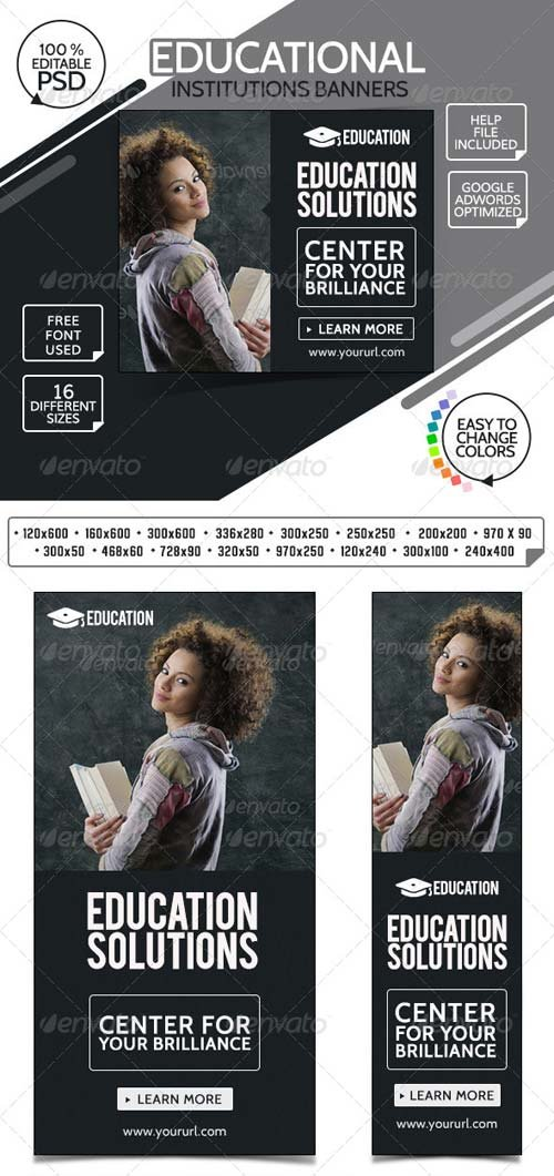 GraphicRiver College & Education Banners