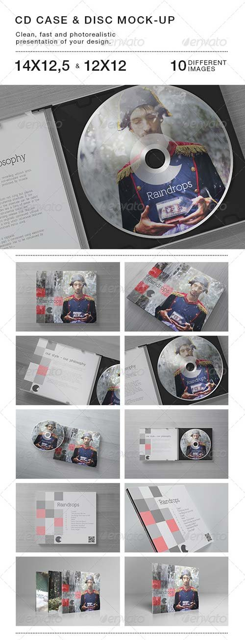 GraphicRiver CD Case & Disc Mock-up
