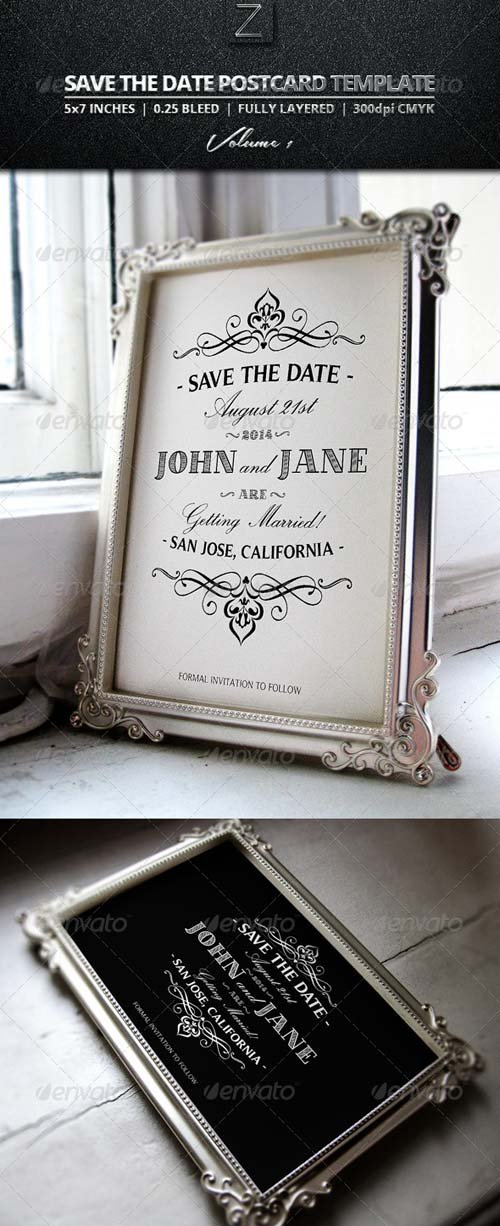 GraphicRiver Save The Date Postcard Templates Vol.1