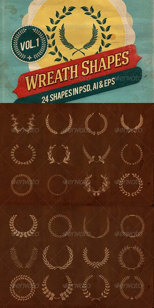 GraphicRiver Wreath Shapes Vol.1