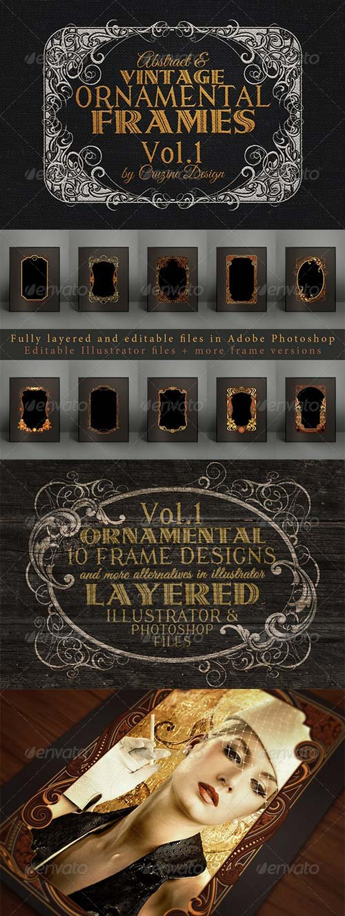 GraphicRiver 10 Frames Vol.1 - Vintage Ornament