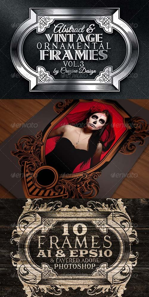 GraphicRiver 10 Frames Vol.3 - Vintage Ornament
