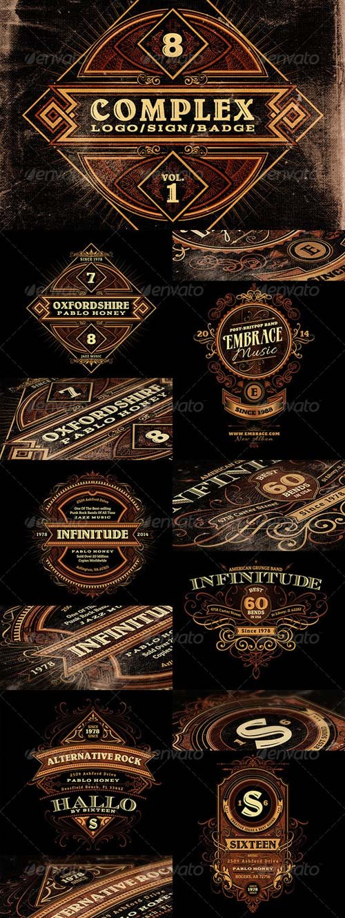 GraphicRiver Complex Logos/Signs/Badges v.1