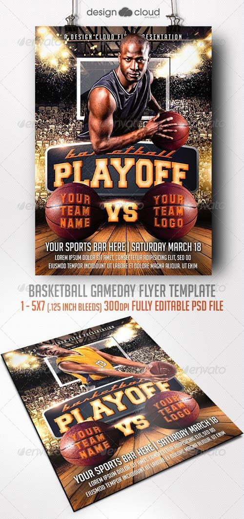 GraphicRiver Basketball Game Day Flyer Template