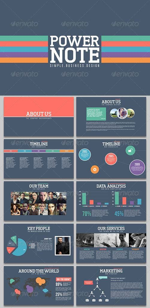 GraphicRiver PowerNote PowerPoint Presentation