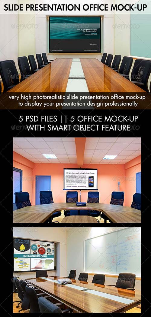 GraphicRiver Slide Presentation Office Mock-Up