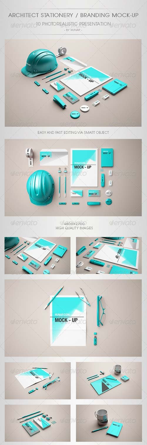 GraphicRiver Architect Stationery Mock-Up