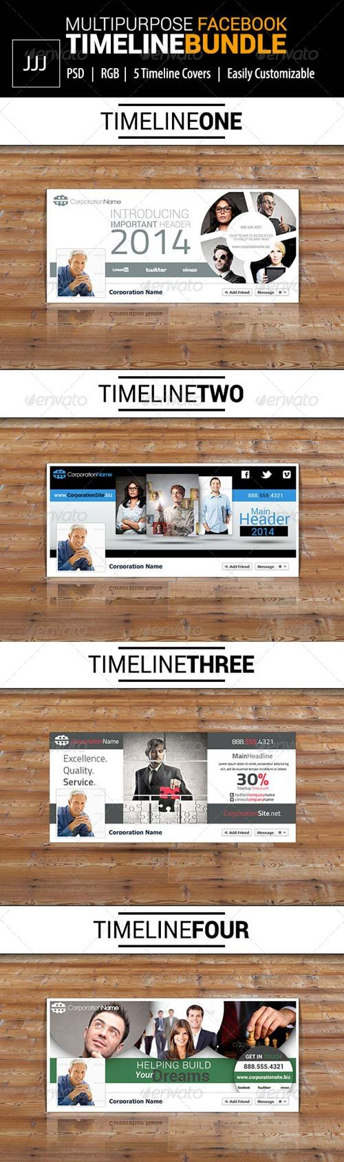 GraphicRiver Business Facebook Timeline Bundle Vol.1