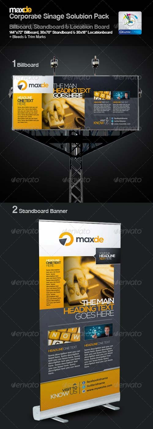 GraphicRiver Maxde Clean Sinage Solution Pack