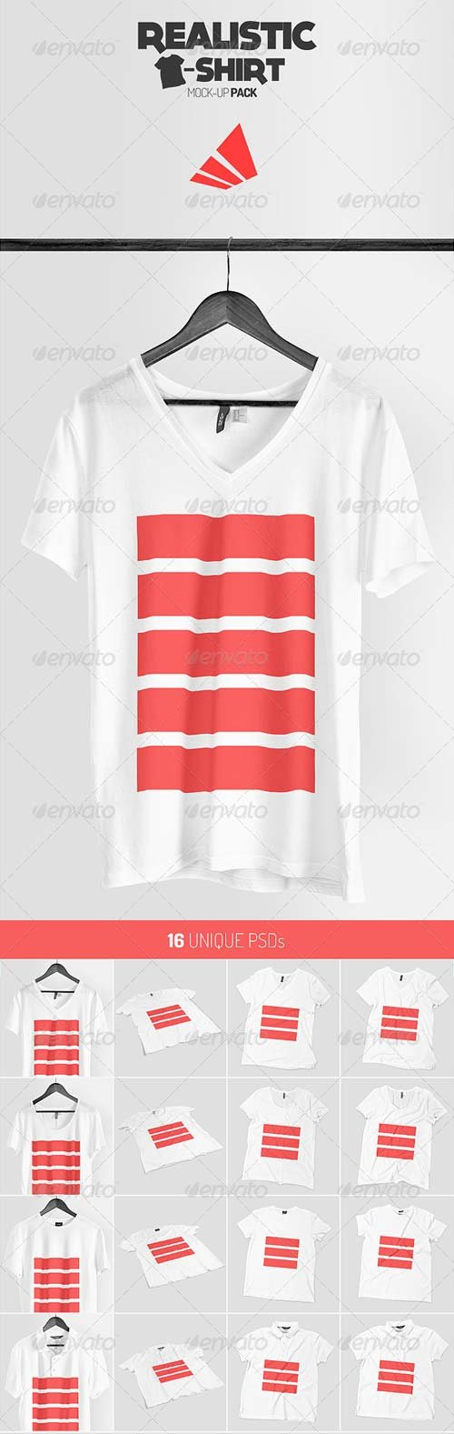 GraphicRiver Realistic T-shirt Mock-up Pack