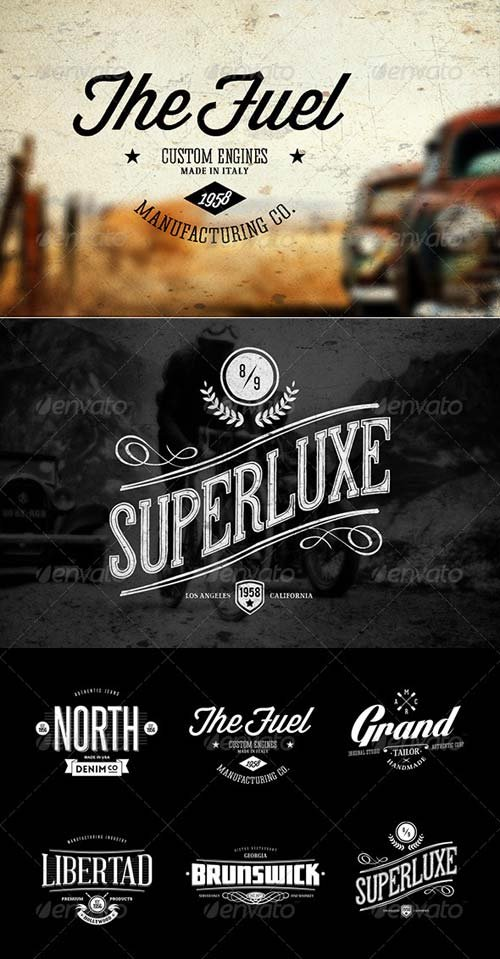GraphicRiver Badges & Logos Vol.04