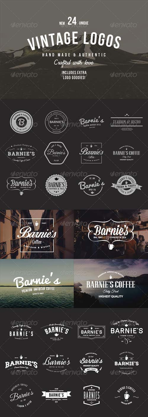 GraphicRiver 24 Old-School Logos & Badges