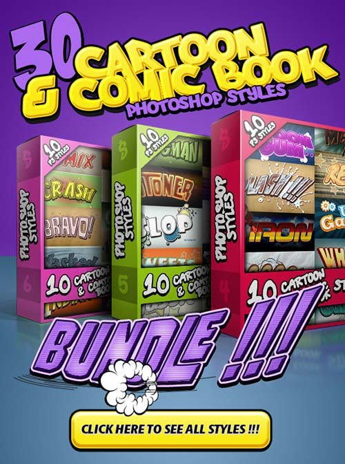 GraphicRiver Cartoon and Comic Book Styles Bundle 2