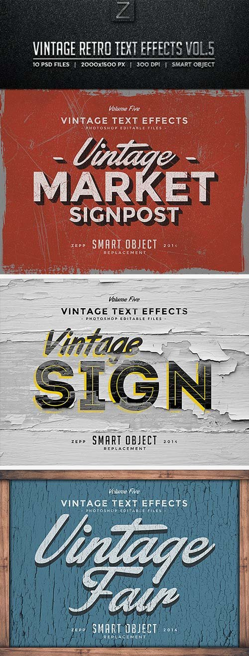 GraphicRiver Vintage Text Effects Vol.5