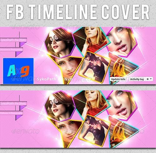 GraphicRiver Colourful FB Timeline Cover Template V.2