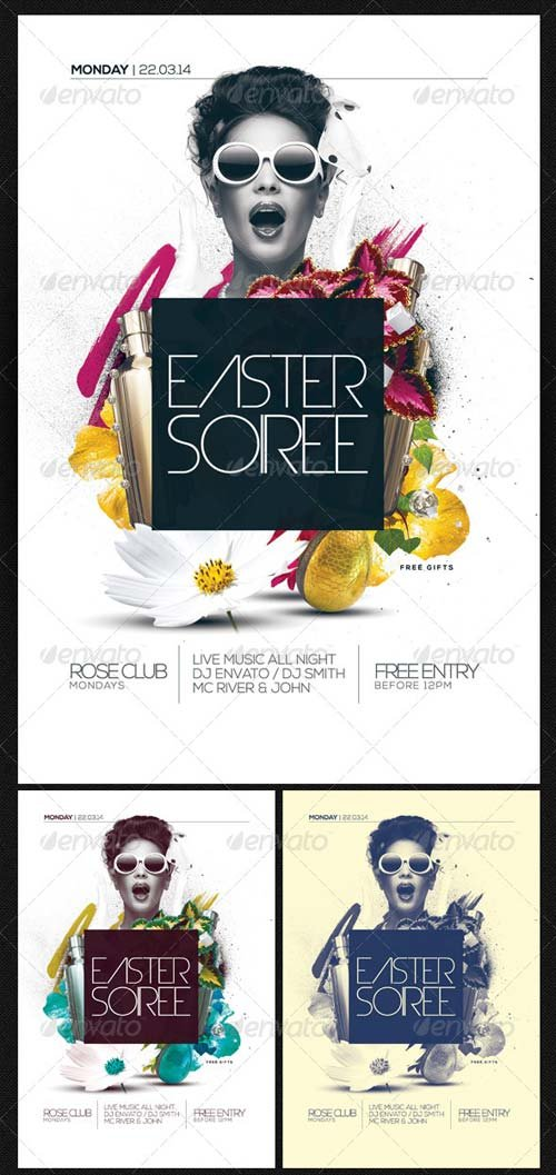 GraphicRiver Easter Soiree Flyer Template PSD